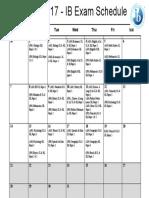 May 2017 - IB Examination Calendar