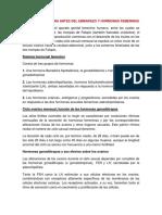 Fisiología Femenina Antes Del Embarazo, Hormonas Femeninas y Ciclo Menstrual
