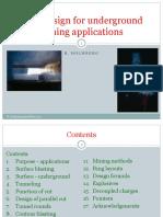2. Blast Design for Underground Mining Applications