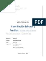 nota 4 Concilación laboral y familiar