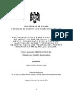 RECOMENDACIONES PARA LA MITIGACION Juan Enrique Ortega Leon