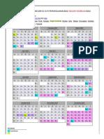 Kalendar Cuti Umum, Cuti Negeri & Cuti Persekolahan Bagi Negeri Sembilan Tahun 2017