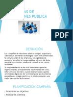 Campañas de Relaciones Publica