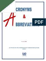 2005 UN OCHA Acronyms and Abbreviations