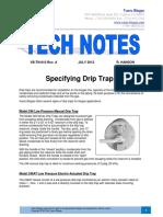 Tn 010-Drip Traps Rev A
