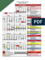 Needham School Calendar 2017-88
