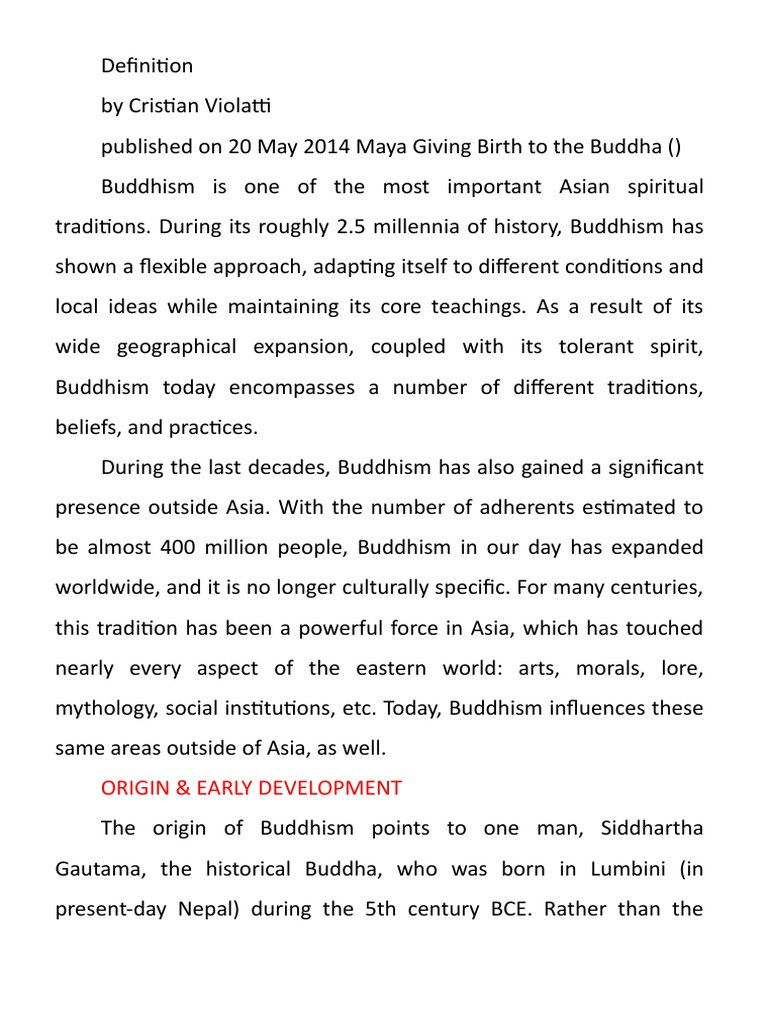 why is buddhism important today