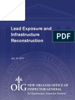 OIG Lead Exposure and Infrastructure Reconstruction