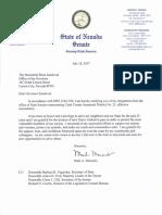 Senator Manendo Resignation