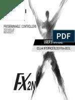 Fx2n 32ccl Usermanual Jy992d71801 f