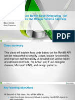 Presentation 11192 Presentation SD11192 Advanced Revit Code Refactoring