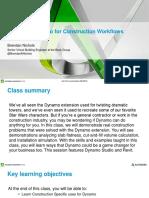 Presentation_21802_CS21802_Dynamo for Construction Workflows Presentation