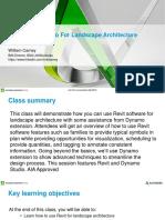Presentation_20475_autodesk-University-2016-Revit and Dynamo for Landscape Architecture