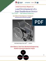 Progress Report PyraAid Wheelchair Aid Development