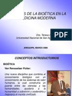 Desafios de La Bioetica a La Medicina Moderna