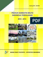 Watermark Produk Domestik Bruto Indonesia Triwulanan 2010-2014