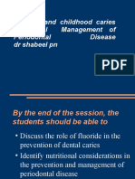 Fluoride and Childhood Caries Nutritional Management of Periodontal Disease