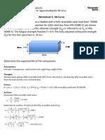 Worksheet 5 Solution SN Curve Practice Problem