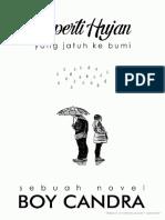 Boy Candra Seperti Hujan Yang Jatuh Ke Bumi