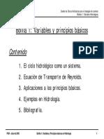 DOHDCA 01 Variables Hidrológicas