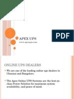 Apex UPS - Online Ups Dealers in Chennai