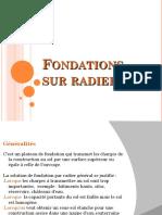 Fondations Sur Radier