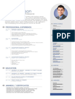 Free Simple Professional Resume Template in Vector Format