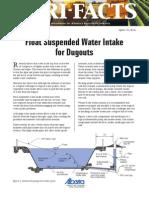 Float Suspended Water Intake