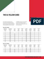 Paper UL Yellow Card