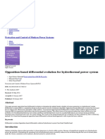 Protection and control of power systems