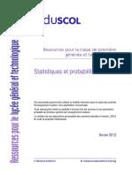 Eduscol Ressource Statistiques Probabilites 1eres Fevrier 2012