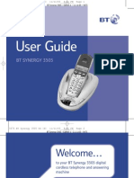 BT Synergy 3505 Manual / USer Guide