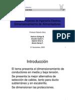 DIMENCIONAMIENTO DE CONDUCTORES