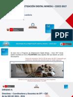 Programa de Alfabetización Digital MINEDU-CISCO 2017