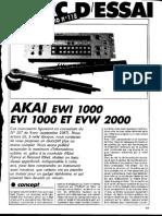 Analyse EWI 1000 Et EVW 2000