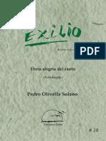 Ebria alegría del canto. Antología. Pedro Olivella Solano. Ediciones Exilio No 28
