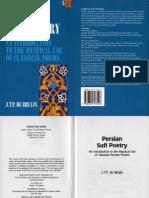 Bruijn, Persian Sufi Poetry, 1997