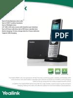 Yealink W56P VoIP DECT Cordless Phone Datasheet