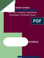 Gramatica Limbii Române Mihaela Gheorghe