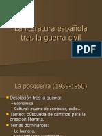 La literatura española tras la Guerra Civil