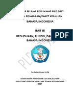 BAB III Kedudukan Fungsi Dan Ragam Bahasa Indonesia