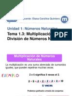 1.3 Multiplicacion y Division