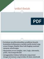 Artikel Ilmiah