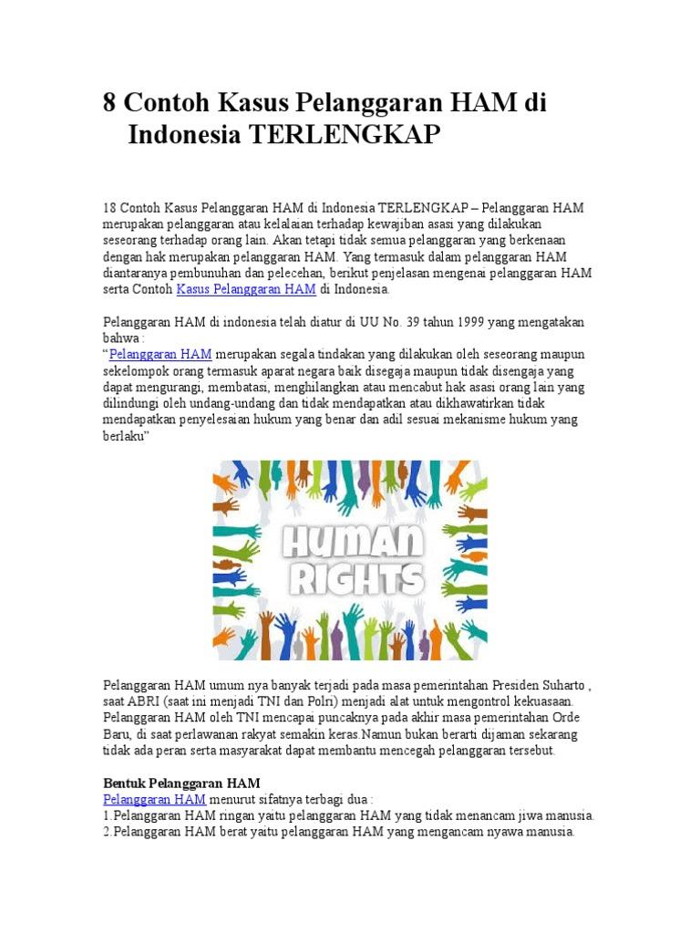 8 Contoh Kasus Pelanggaran Ham Di Indonesia Terlengkap
