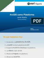 ArcGIS como plataforma