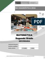 Prueba Diagnc3b3stica Del c3a1rea de Matemc3a1tica 2