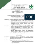 9.1.1.1 Sk Keterlibatan Petugas Pemberi Pelayanan Klinis Dalam Peningkatan Mutu Klinis