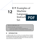 EXAMPLES OF MACHINE LANGUAGE INSTRUCTION SET