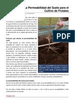 22. La Permeabilidad Del Suelo Para El Cultivo de Frutales