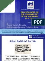 Victorio Dimagiba Consumer Act (RA 7394)